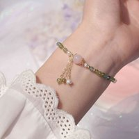 Handsome Crystal Bracelets and for Women, Elegant Dipped in Real Gold 14k with Pearls of Fresh Water