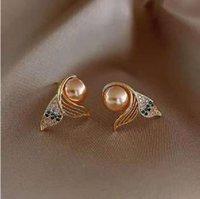 Mermaid pearl earrings free deli very