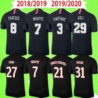 PSG jersey Retro 2018 2019 2020 maillots de foot MBAPPE Paris قمصان كرة القدم ICARDI 18 19 20 Classic Vintage قميص كرة القدم CAVANI الكبار رجالي الرابع الثالث أسود S-2XL