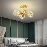 Nordic Creative Luxury Copper Dining Room Chandelier Lighting Bedroom LED Hanging Lamp Restaurant Kichen Island Fixtures Chandeliers