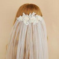 Bridal-Schleier ZMVS346 Luxus Perlen Abziehbilder Braut Schleier Hochzeit Kopfschmuck Braut Zubehör verschleiert Damen Kleidung Bachelorette Party Voile