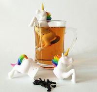 Silicona Filtro Creativo Flojo Unicornio Shaleaf Herbal Spice Tea Herramientas de té Bolsa Bolsa de infusiones de grado alimenticio Difuso difuso