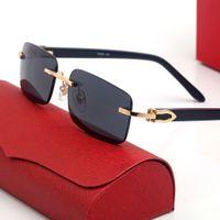 Buffalo Boynuzları Erkek Güneş Gözlüğü Kadın Gözlük Klasik Kare Eğlence Lüks Dikdörtgen Gözlük Karışık Renkli Renkli Moda Çerçeveleri Ile Orijinal Kutusu