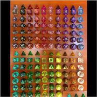 GAMBING 7 UNIDS Múltiples caras Polyedral Dados Set RPG Juego 1 unids D4 D6 D8 D12 D20 D1009 0090 Dragones de las mazmorras Dados DRESA DE ALTA CALIDAD D17 NNVGF A5OZKK