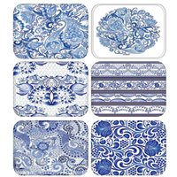 Cushion Decorative Pillow Blue White Porcelain Kitchen Entrance Door Mat Coral Velvet Carpet Rubber Colorful Indoor Floor Mats Non-Anti-Slip