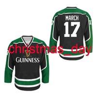 Couture personnalisée Irish Stout Sout Jersey Hockey Jersey 17 mars 17 St. Patrick's Stitch Mens Hockey Jersey XS-6XL