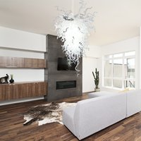 Belle lampade a sospensione moderno bianco artistico 120 V / 240 V Lampadine a LED in vetro soffiato in vetro soffiato in vetro soffocante
