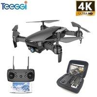 Tegegi M69 FPV DRONE 4K con cámara WiFi de gran angular 1080P HD Foldable RC Mini Quadcopter Helicopter vs VISUO XS809HW E58 X12