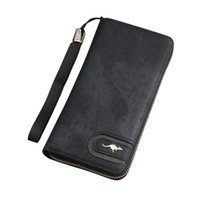 Wallets Women Men Simple Retro Zipper Coin Purse Long Wallet Card Holders Handbag 40#