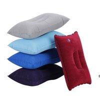 Açık Taşınabilir Katlanır Hava Şişme Yastık Çift Taraflı Akın Yastık Uyku Yastıklar Seyahat Uçak Otel 27 * 43 cm DHF6037
