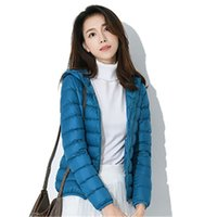 Womens Solid Colors Down Jackets Spring Fashion Thick Warm Slim Lightweight Hooded Coats Designer Female Casual Long Sleeve Short Outerwears