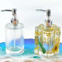 Perfume bottle mold epoxy resin molds DIY silicone moulds liquid soap container lotion shampoo dispensers mould