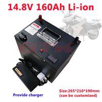 GTK 4S 14.8 V 160Ah Batteria agli ioni di litio ad alta capacità 12V 15V Batteria al litio per campeggio Alimentatore esterno Inverter + caricabatterie 10A