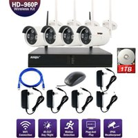 ANSPO 4CH WIFI NVR 960P HD Outdoor Wireless Security Camera System mit 1 TB HDD IP-Kameras