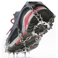 19-dentes Anti Skid Skid Crampons Spikes Cleats Capa de sapato para inverno Caminhadas de aço inoxidável Gelo ao ar livre Gravata Cabos, Slings e Webbin