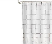 2021 Große quadratische Polyester Tuch Duschvorhang Großhandel Wasserdichte Badezimmer Vorhänge 220 cm breit * 200 cm hoch