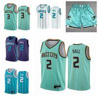 "Ballon de basketball Jerseys Lamelo Ball # 2 # 3 Rozier III Gordon 20 Hayward City ""Association Charlotte"" Hornets ""Jersey"