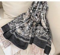 Designer Frauen Kaschmir Schal Schal Hohe Qualität Mode Silk Schals 2021 Luxus Schalldämpfer Brief Muster Wolllandschaft Animal Print Pashminas mit Free Box Geschenke