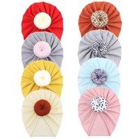 A940 유아 아기 모자 매듭 모자 아이 유아 키즈 어린이 코튼 비아 터번 도너츠 모자 10 색