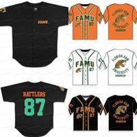 Florida AM University Famu Baseball Jersey Men Mujeres Jersey Jerseys de béisbol de los jóvenes Cualquier nombre y número doble cosido
