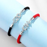 Couple Bracelet Men and Women Chain Korean Style Student This Animal Year Red Rope Jewelry 520 Valentines Day Gift 1314