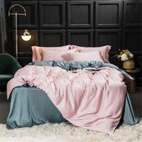 Set di biancheria da letto Sisisilk N Luxury 100% Seta rosa Set di seta Natura 25 Momme Cover Duvet sano Queen King Letto Biancheria Tessile per la casa