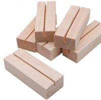 Party Holz Karten Halter Name Platzkarte Menü Inhaber Number Clip Ständer Schreibtisch Zubehör Hochzeitsdekoration CCF6019
