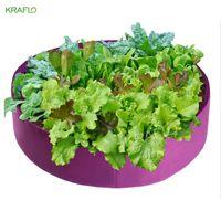 Vliesstoffgarten extra große runde angehobene blumentöpfe bett tiefe boden pflanzenbehälter gemüse wachsen tasche