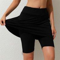 Women's Leggings Fitness Knee Length Pants Casual Middle Waist Tennis Sports Five Points Skirt Leggins