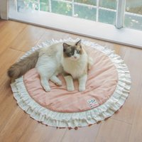 Cat Beds & Furniture Small Dog Bed Pink Soft Sofa Cozy Cute Girl Pet Mat Couch Cushion Machine Washable, For Puppy