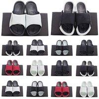 Pantofole di modo Sandali Hydro 6 Slides Black Men Spiaggia Spiaggia Bianco Red Pallacanestro Retro Casual Scarpe Casual Scarpe da ginnastica da esterno taglia 36-45 5.5-13