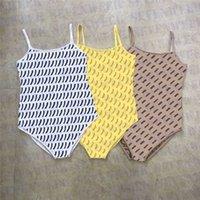 مصمم العلامة التجارية الحمالة السروال القصير قطعة واحدة ملابس السباحة النساء بذلة جاكار إلكتروني المرأة ضئيلة عارضة القمصان