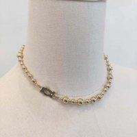 2021 Luxus Qualität Charme Gold Farbe Perlen Halskette und Armband Drop Ohrring Für Frauen Hochzeit Schmuck Geschenk Have Stempel Have Box PS3250