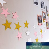1set 4M Paper Star Banner Garlands Birthday String Chain Banner Ornaments Curtain Wedding Party Holiday Stays Lahua Activities