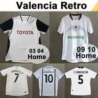 2001 Valência Vicente Mendieta Mens Retro Futebol Jerseys 10 11 Silva 06 07 Edu Home White Away Black Retro Football Camisa Manga Curta