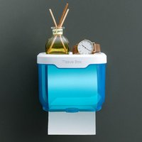 Tissue Boxes & Napkins Waterproof Toilet Paper Holder Wall Mounted Punch Free Dispenser Transparent Storage Box Bathroom Kitchen Supply TS2