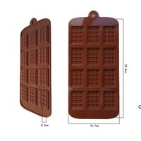 Silicone Mold 12 Even Chocolate Mold Fondant Molds DIY Candy Bar Mould Cake Decoration Tools Kitchen Baking Accessories DHA4828