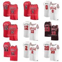 2021 баскетбольные трикотажные изделия Скотти Pippen Jersey Dennis Rodman Nikola Vucevic Zach Lavine Lauri Markkanen сшитые размеры S-XXXL дышащая быстрая сухая белая черная сетка