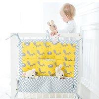 Brand new berço de bebê cama pendurado saco de armazenamento berço berço organizador saco de armazenamento 60 * 50cm brinquedo fralda bolso para berçário conjunto de cama flaming0 1257 y2