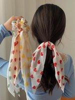 Дети любят длинные хвостовые ленты лук волос веревочка принцесса девушка галстука головы веревка ленты большой кишечник кольцо волос ювелирные изделия 1220606