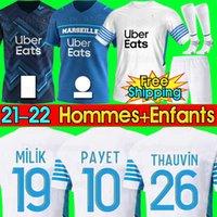Olympique de Marseille Jersey di calcio 2020 2021 2022 OM Marsiglia Maillot de foot PAYET THAUVIN BENEDETTO Polo maglie 20 21 22 camicie Marsiglia
