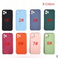 For iPhone 7 to 12 Series Protective Case TPU Soft Full Coverage anti-drop waterproof and shockproof Liquid Silicon Protect Shell