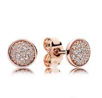 Ohrring Silber Ohrringe für Original 925 Luxus Liebe Rose Box mit Schmuck Diamant Pandora Designer Hearts Authentic Plated Stud Gold Jowbb