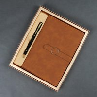 Business-Notebook-Geschenkbox A5 Besprechungs-Rekordbuch-Buchsenkunden-Büro-Hand-Ledger-Leder-Notizblock Agenda Planer Notebooks Zeitschriften Notizblöcke