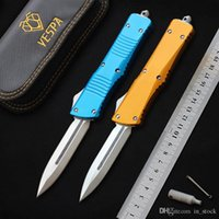 VESPA knives Tactical Combat knife D2 steel blade Aluminum Alloy Handle hunting knife camping outdoor survival EDC tool auto pocket knife