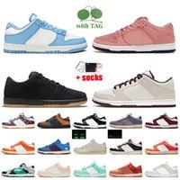 Nike SB Dunk Low Off White OG Dunks Low Zapatos para correr Costa UNC Blanco Negro Gris Arena del Zapatillas de skate Mujer Hombre Zapatillas invictas Tamaño grande 12