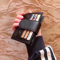Black Women Wallet Luxury Designer Fashion Full Leather Female Hasp Credit Card Holder Coin Purse Lady Short Wallets Slim Small Purses Clutch Bag Carteira de mujer