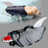 كلب الملابس s / m / l / xl الحياة الحيوانات الأليفة سترة الأزياء تعكس التوقف السباحة سترة بدلة سلامة المياه