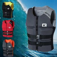 Life Vest & Buoy Outdoor Rafting Neoprene Jacket Adult Safety Water Sports Fishing