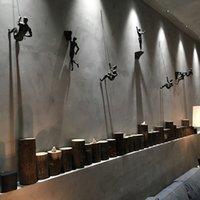 Креативные скалолазание мужчины скульптура настенные украшения настенные украшения Смола статуэта статуэтка ремесла домой меблировка декор аксессуары 2152 v2